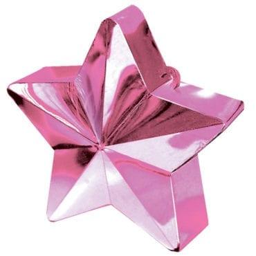 Peso para balão Estrela Rosa