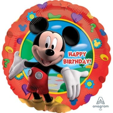 Balão Foil  Happy Birthday Mickey Mouse Clubhouse