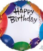 Balão Foil  Happy Birthday Personalizável