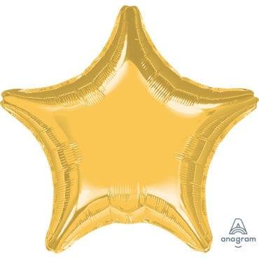 Balão Foil SuperShape 81cm Estrela Dourado