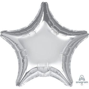 Balão Foil SuperShape 81cm Estrela Prateado