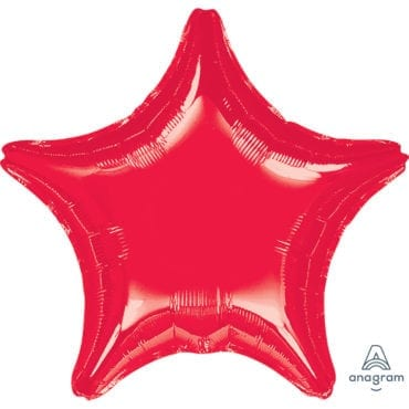 Balão Foil SuperShape 81cm Estrela Vermelho