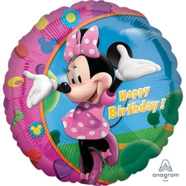 Balão Foil  Happy Birthday Minnie Mouse