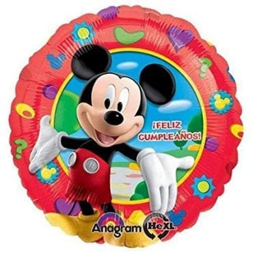 Balão Foil  Feliz Cumpleaños Mickey Mouse