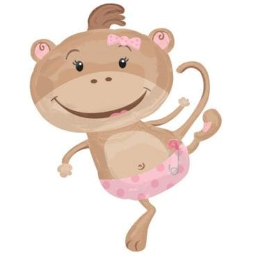 Balão Foil SuperShape  Macaco Menina