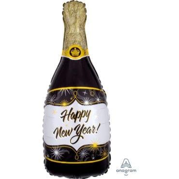 Balão Foil SuperShape Champanhe Ano Novo