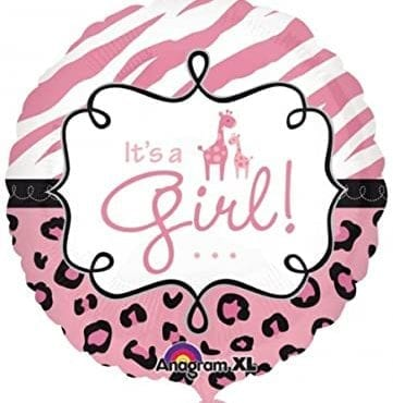 Balão Foil Standard Safari It's a Girl