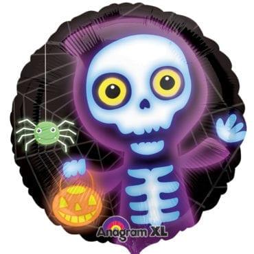 Balão Foil  Esqueleto Boo Crew