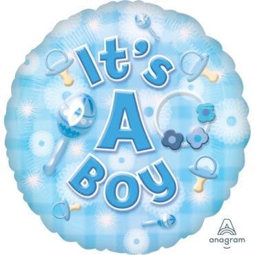 Balão Foil  New Baby Boy