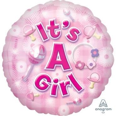 Balão Foil  New Baby Girl