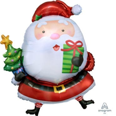 Balão Foil SuperShape Pai Natal com Árvore