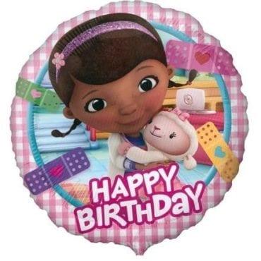Balão Foil  Happy Birthday - Doutora Brinquedos