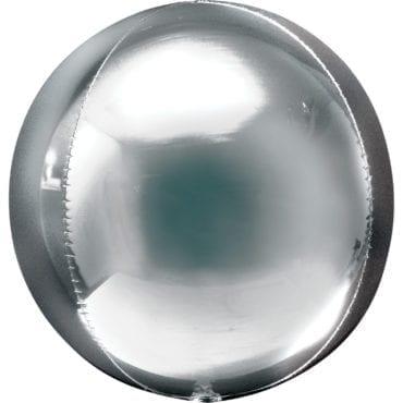 Balão Foil Orbz  Prateado