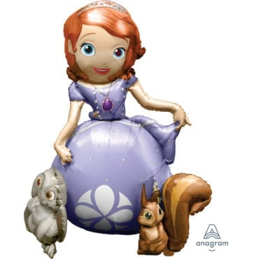Balão Foil Airwalker Buddies Sofia The First