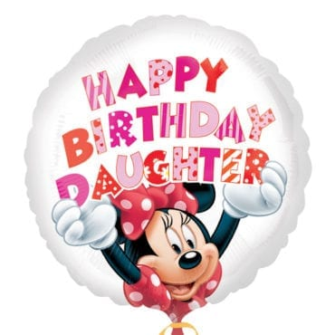 Balão Foil  Happy Birthday Daughter - Minnie Mouse