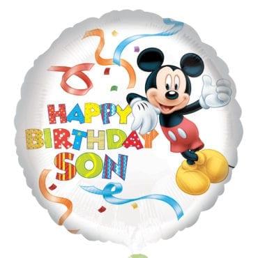 Balão Foil  Happy Birthday Son - Mickey Mouse