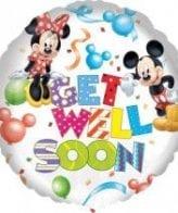 Balão Foil  Get Well Soon - Mickey & Minnie Mouse
