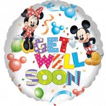 Balão Foil  Get Well Soon - Mickey & Minnie Mouse