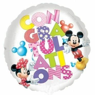 Balão Foil  Mickey & Minnie Mouse Congrats