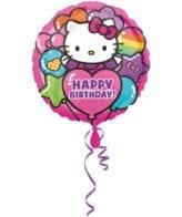Balão Foil  Happy Birthday Rainbow Hello Kitty