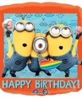 Balão Foil  Happy Birthday Minnions