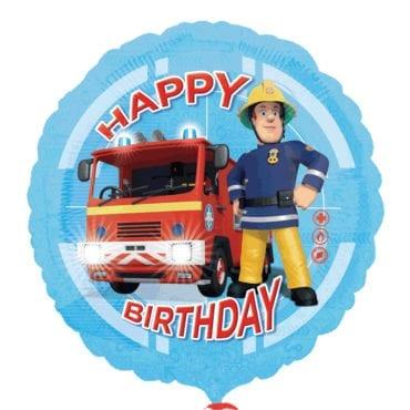 Balão Foil  Happy Birthday Bombeiro Sam