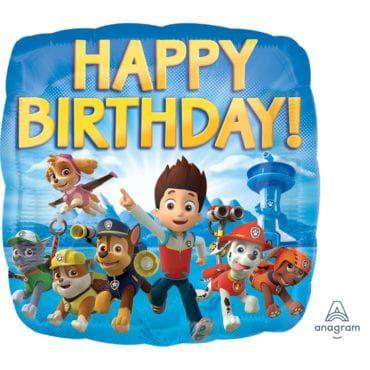 Balão Foil  Happy Birthday Paw Patrol
