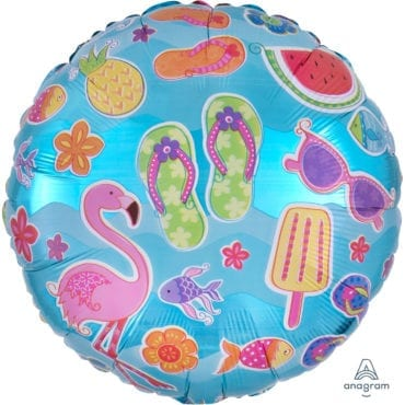 Balão Foil Standard Summer Fun - Flamingo, Ananás, Gelado, Melancia