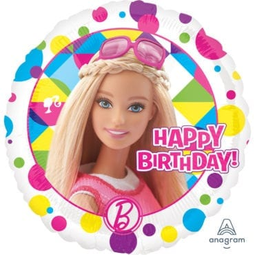Balão Foil  Happy Birthday Barbie Sparkle