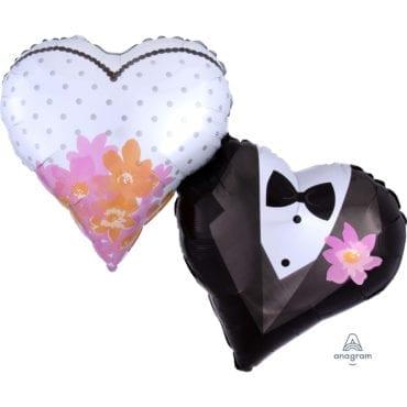 Balão Foil SuperShape Casamento Corações
