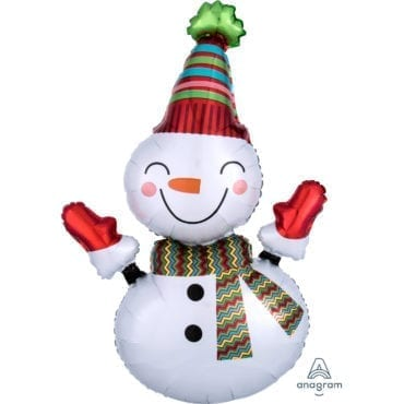 Balão Foil SuperShape Natal - Boneco de Neve