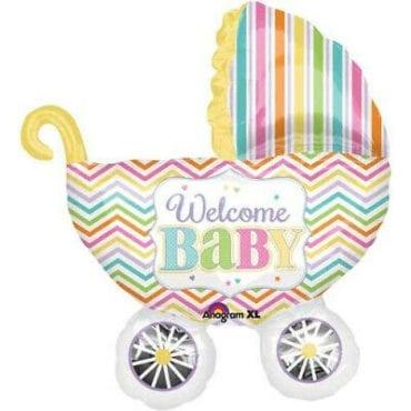 Balão Foil SuperShape Carrinho de Bebé