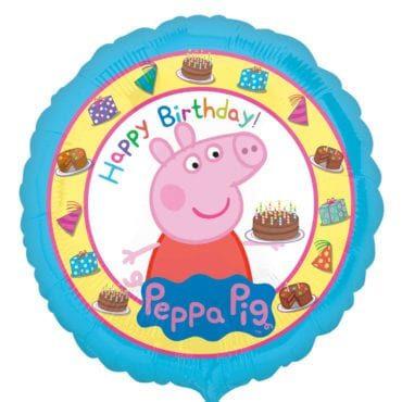 Balão Foil  Happy Birthday Peppa Pig