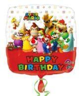 Balão Foil  Happy Birthday Super Mario