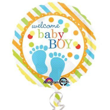 Balão Foil  Pé de Bebé Azul