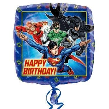 Balão Foil  Happy Birthday Justice League