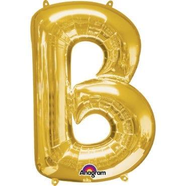Balão Foil 86cm Dourado Letra B