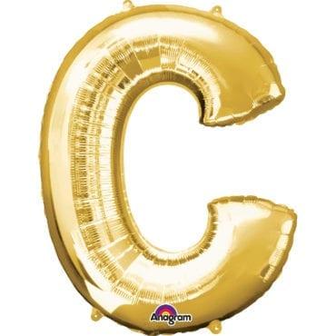 Balão Foil 86cm Dourado Letra C
