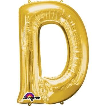 Balão Foil 86cm Dourado Letra D