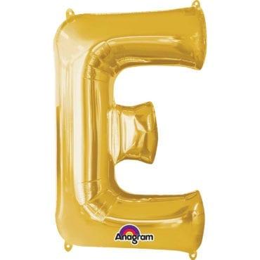 Balão Foil 86cm Dourado Letra E