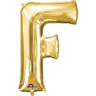 Balão Foil 86cm Dourado Letra F