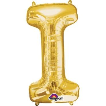 Balão Foil 86cm Dourado Letra I