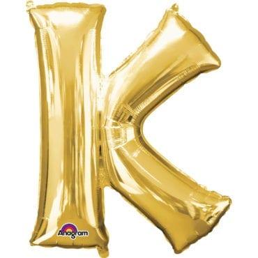 Balão Foil 86cm Dourado Letra K