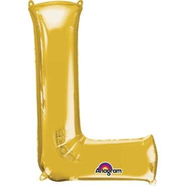 Balão Foil 86cm Dourado Letra L