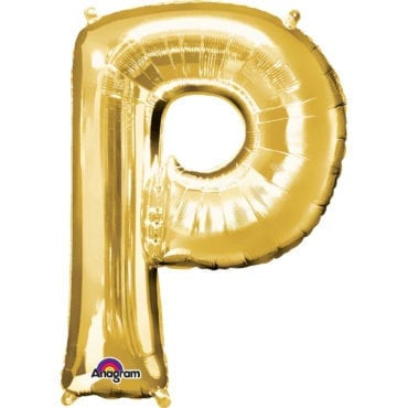 Balão Foil 86cm Dourado Letra P