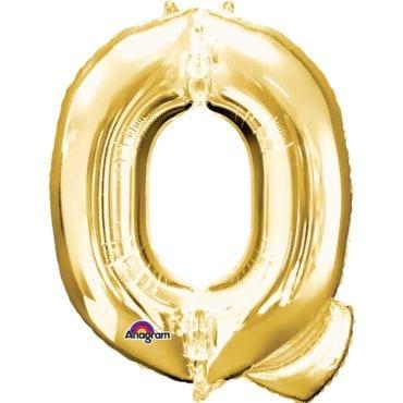 Balão Foil 86cm Dourado Letra Q