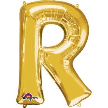 Balão Foil 86cm Dourado Letra R