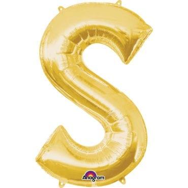 Balão Foil 86cm Dourado Letra S