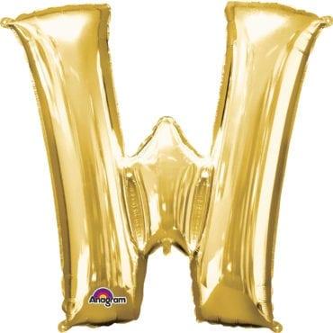 Balão Foil 86cm Dourado Letra W