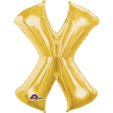 Balão Foil 86cm Dourado Letra X